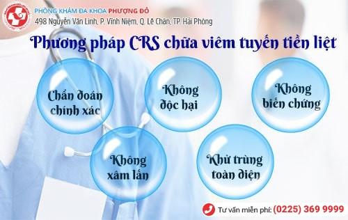 Phương pháp CRS mang lại hiệu quả chữa viêm tuyến tiền liệt cao