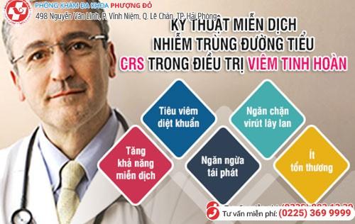 CRS - Phương pháp chữa viêm tinh hoàn hiệu quả hiện nay
