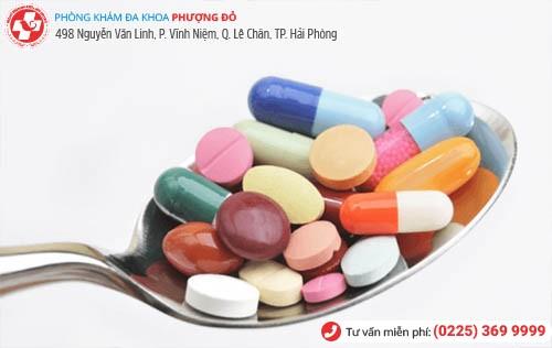 trị viêm bàng quang bằng thuốc