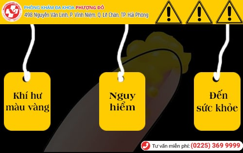 Biến chứng khí hư màu vàng