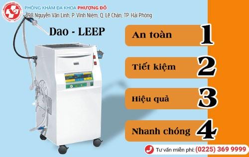 Điều trị khí hư màu đỏ bằng Dao - LEEP