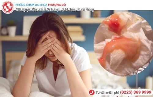 Khí hư có máu do nhiều bệnh phụ khoa gây nên
