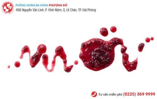 Hình ảnh máu kinh vón cục