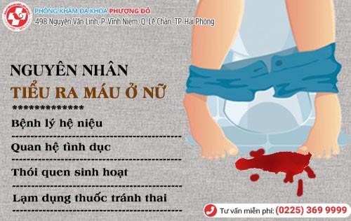 Nguyên nhân tiểu ra máu ở nữ