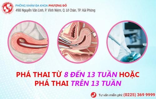 Cách phá thai từ 8 đến 13 tuần, phá thai trên 13 tuần an toàn, không đau