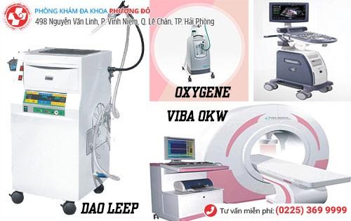 1 số thiết bị y tế chữa bệnh phụ khoa tiên tiến tại Phượng Đỏ