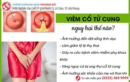 Viêm cổ tử cung gây ra nhiều biến chứng nguy hiểm