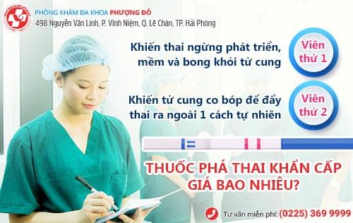 Thuốc Phá Thai Khẩn Cấp Giá Bao Nhiêu?