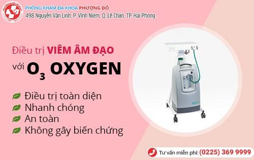 Trị viêm âm đạo bằng oxygen