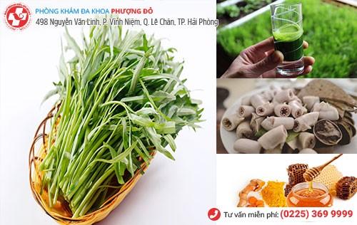 Chữa trĩ bằng rau muống