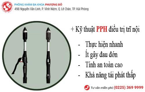 Chữa trĩ bằng phương pháp PPH