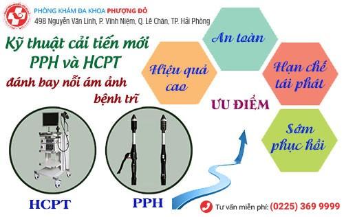 PPH, HCPT điều trị bệnh trĩ hiệu quả hiện nay