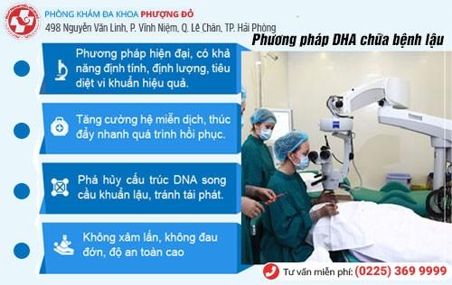 Phương pháp DHA hỗ trợ điều trị bệnh lậu