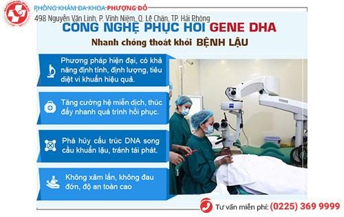 DHA cải tiến mới - công nghệ chữa bệnh lậu hiện đại
